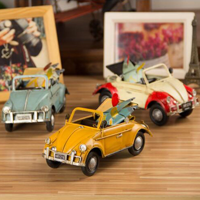 Creative fashion iron sheet Beetle car models / retro home decorations Arts & Crafts furnishing articles