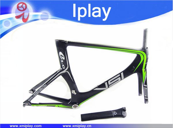 2016 promotion carbon time trial bicycle frame T700 carbon TT frame +fork+seatpost+headset(China (Mainland))