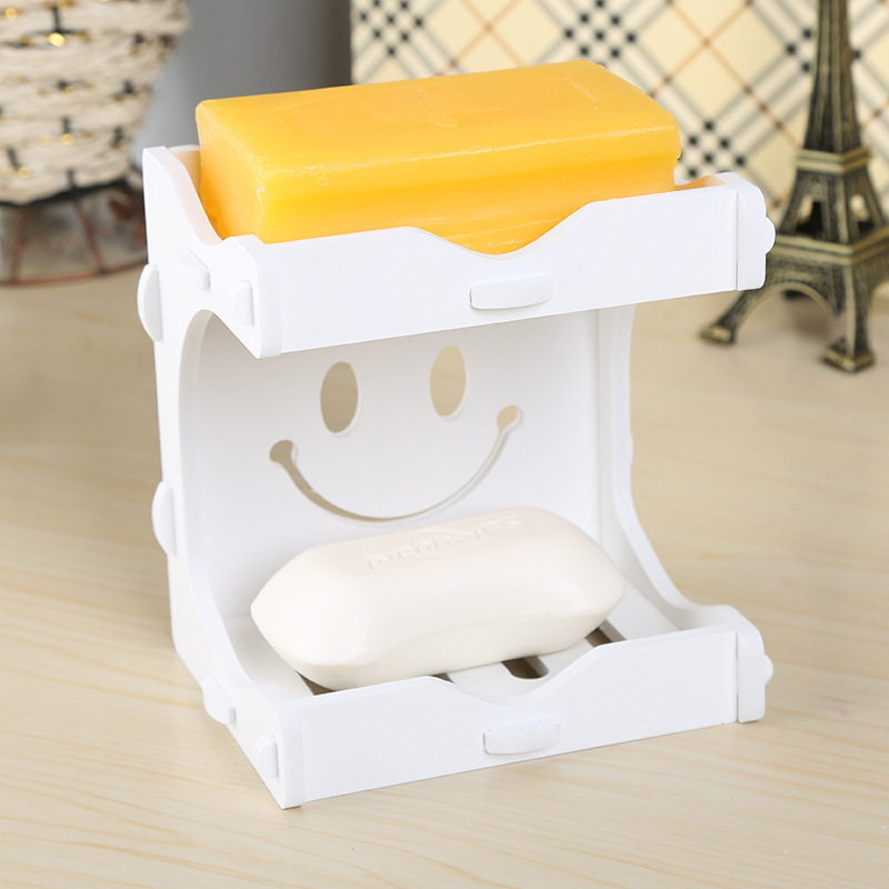 Creative Two Layers Soap Storage Holder Smile Bath Soap Stand Practical  Drain Shelves Eco friendly. Online Buy Wholesale plastic soap stand from China plastic soap