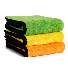 AUTOYOUTH 45cmx38cm Luxury Super Thick Plush Microfiber Car Cleaning Cloths Car Care Microfibre Wax Polishing Detailing Towels(China (Mainland))