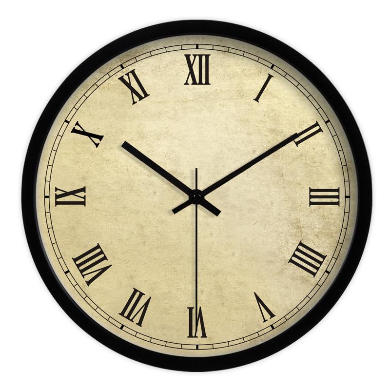 Ronde horloges murales promotion achetez des ronde for Horloge murale grande taille