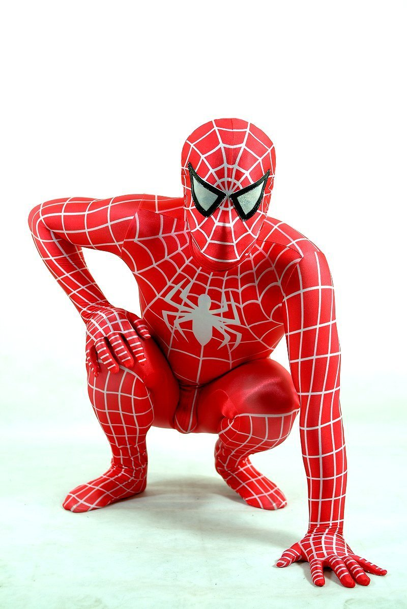cosplay red lycra spandex spiderman zentai suit jumpsuit costumes fancy dress. Black Bedroom Furniture Sets. Home Design Ideas