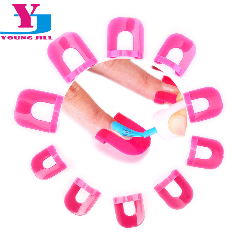 Creative Finger Cover Nail Polish Molds Shield Spill-Resistant Manicure Nail Polish Template Model Clip 13Pcs/Set Nail Art Tools(China (Mainland))