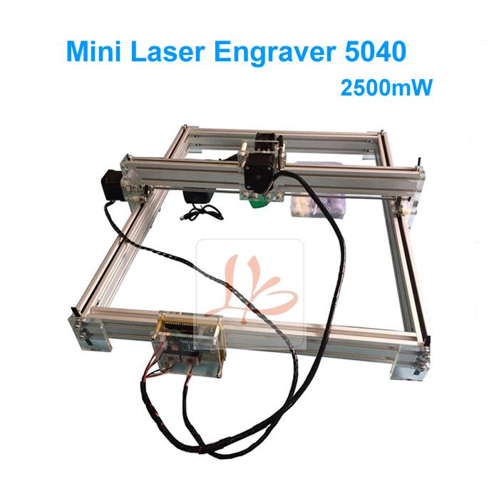2500mW Desktop DIY Laser Engraving Machine 5040 Mini Laser Engraver Picture CNC Printer With 500*400mm Engraving Area(China (Mainland))