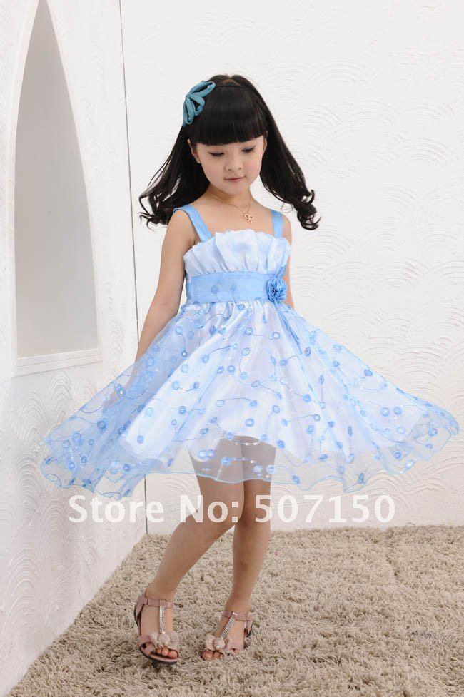 2017 Wholesale Multi Color Kids Chiffon Clothes Girls Princess ...