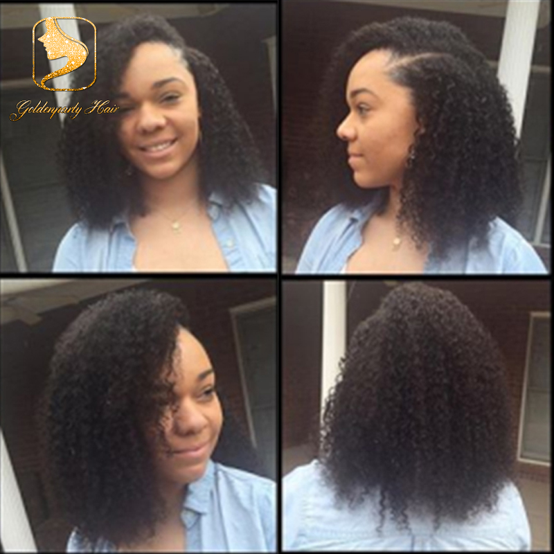 side part full lace human hair wigs 7A glueless short curly virgin lace front wigs Brazilian full lace curly wig for black women