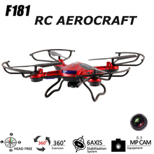 NEW Explorers RC Quadcopter Helicopter 3D Flying 4CH Headless LED Drone With 0.3 MP HD Camera Top Sale Black/Red/White