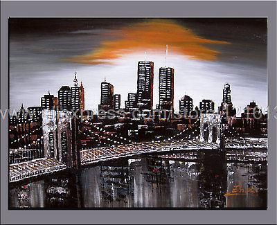Immense peinture l 39 huile palette couteau peinture new for Art et maison new york