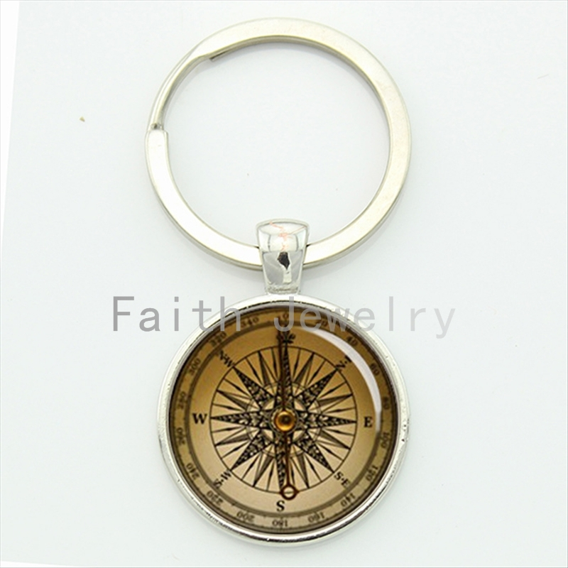 Retro nautical compass key chain old world sailing accessories sailors special keepsake jewelry anniversary birthday gifts KC560(China (Mainland))
