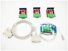 Free shipping CNC Router 3 Axis Kit,TB6600 3 Axis 4.0A Driver Stepper Motor Controller kit for mach3 + 5 axis breakout board