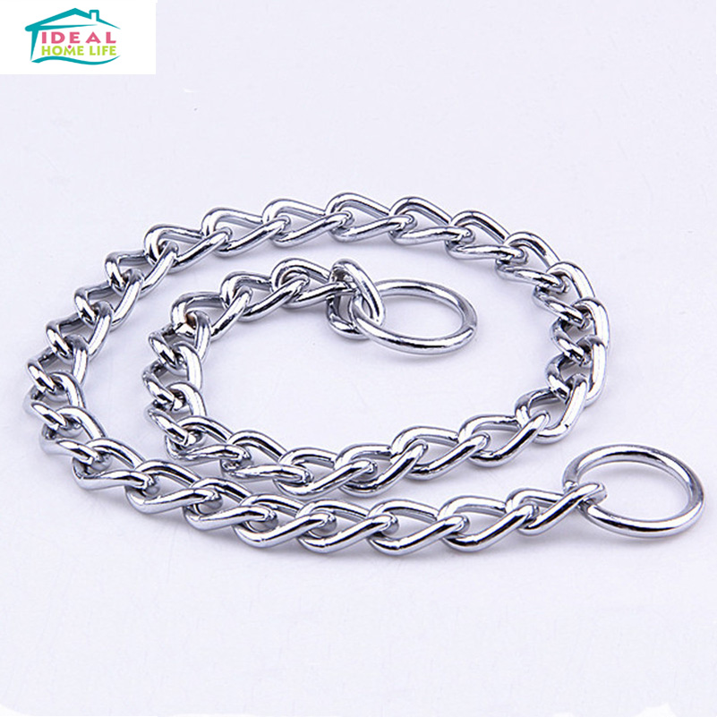 Hot Sale XL Durable Stainless Steel Pet Dog Training P Chain Collar Choke Dog Collar Twisted Snake Chains(China (Mainland))