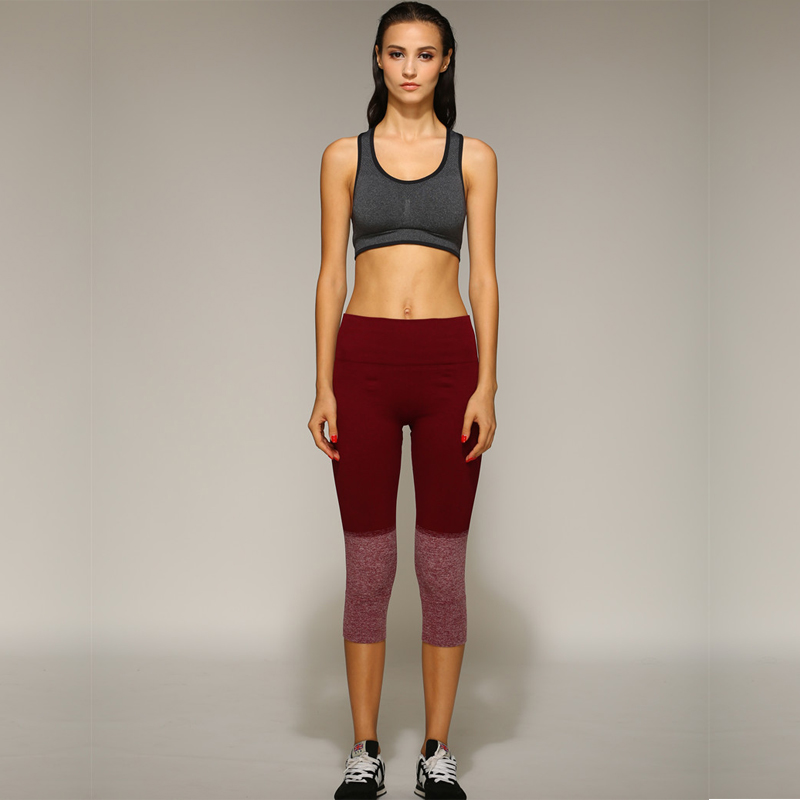 Fitness Workout Clothing And Women's Gym Sports Running Girls Slim Leggings+Tops Yoga Sets Bra+Pants Sport Suits For Female(China (Mainland))