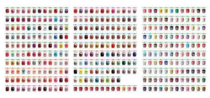 hd image of opi nail polish color chart opi nail polish color chart simple - Opi Gel Color Chart