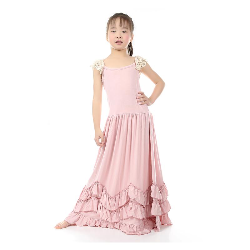 KY Elegant Grl Dress Cotton Casual Bow Straight Sleeveless Dress Solid Regular Sleeve Dress Extra Size Kid Dress For Girl Dress(China (Mainland))