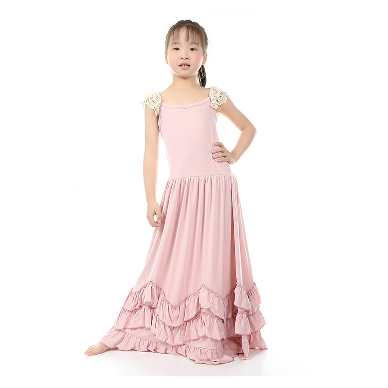 KY Elegant Grl Dress Cotton Casual Bow Straight Sleeveless Dress Solid Regular Sleeve Dress Extra Size Kid Dress For Girl Dress(China (Mainland))