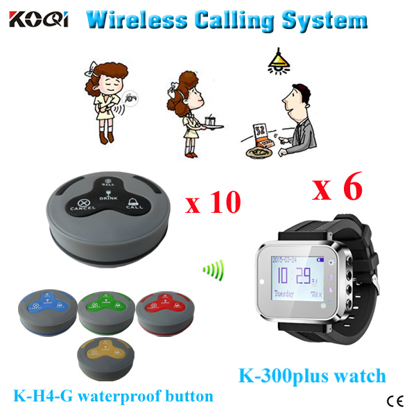 Ycall 433mhz restaurant vibrating pagers wireless waiter watch system table call button(China (Mainland))