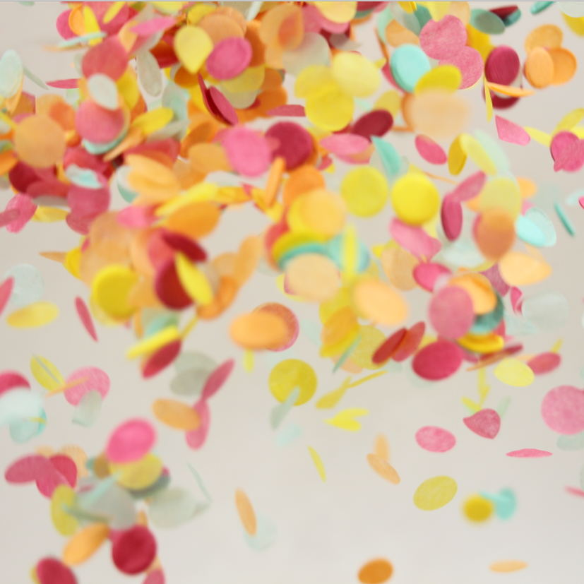 Yellow Pink Mint Paper Supplies Wedding Confetti Birthday Party Decor ...