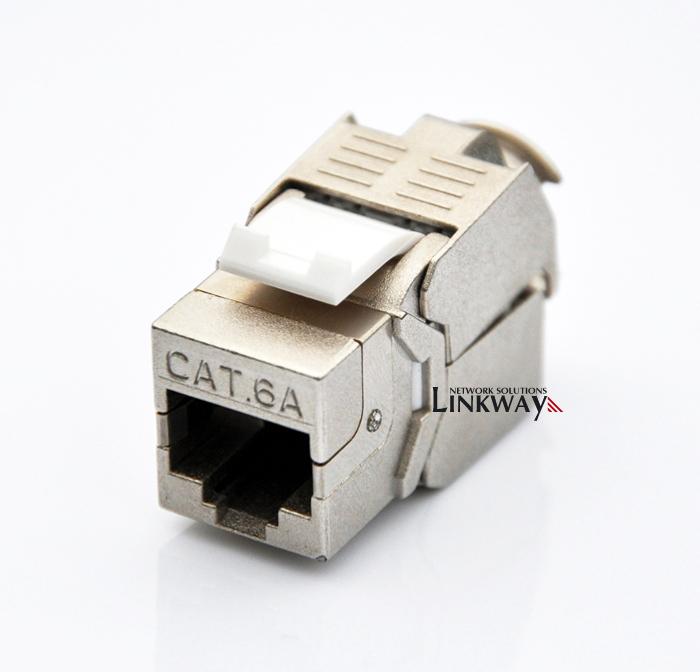 (12pcs/pack) 10GB Network Cat6A (CAT.6A Cl Ea) RJ45 Shielded Keystone on