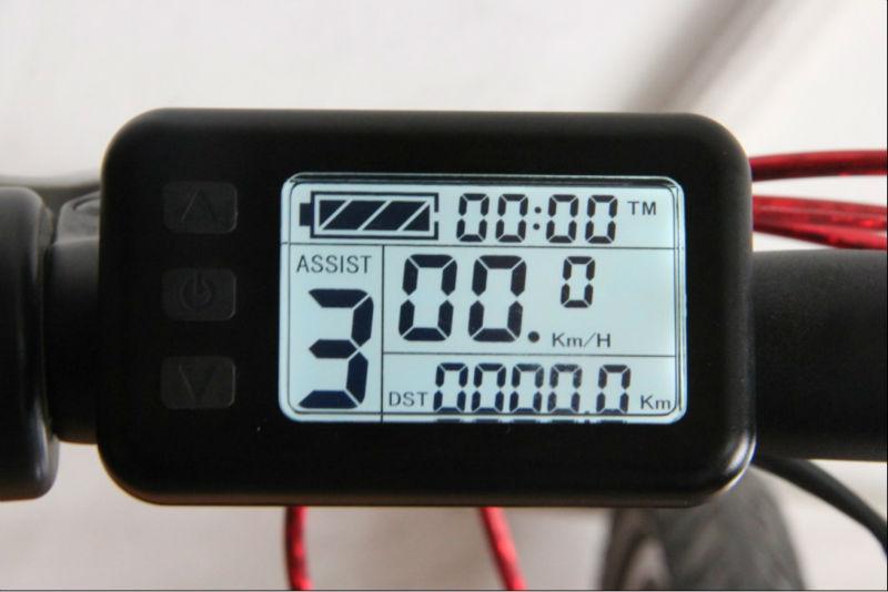 48v Electric Bike Display Lcd Display Speed Voltage Mileage