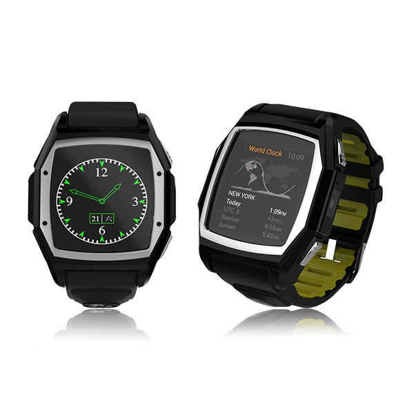 Men Black Blue Outdoor Sports Running Pedometer GPS Positioning And Heart Rate Monitor Support SIM Card 2G Android iOS Watch(China (Mainland))