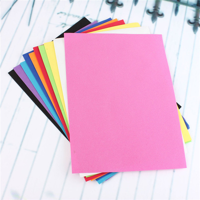 Multicolor Foam Paper (10pcs/lot)