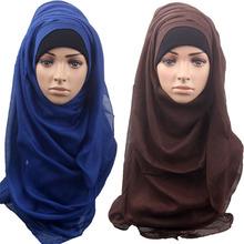 2016 New design 14 colors JERSEY scarf jersey shawl cotton muslim hijab maxi 175*75cm retail(China (Mainland))