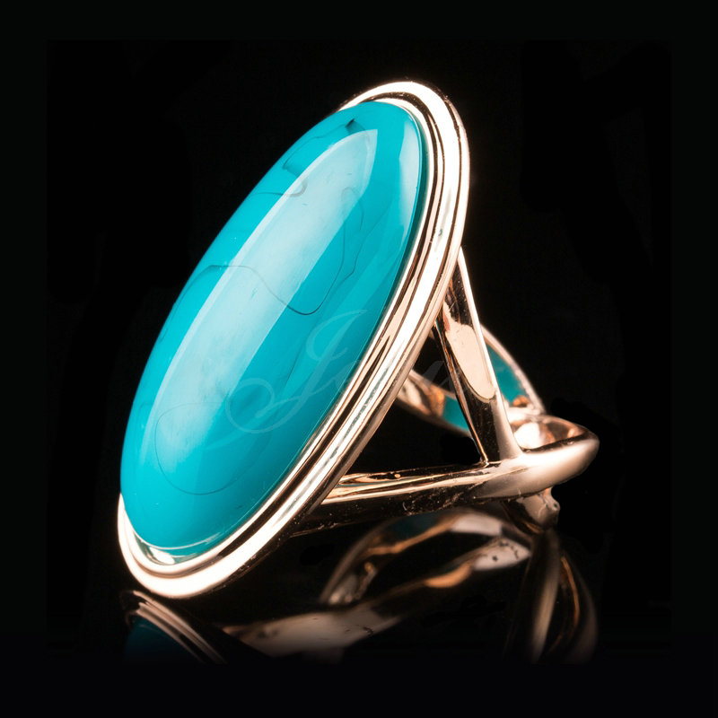jenia high quality unique oval turquoise ring for