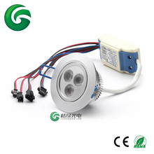 3x3 W 12-24V 3in1 RGB LED Ceiling Light For Indoor light(China (Mainland))