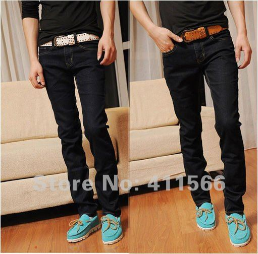 2016 Fashion Mens Pants Slim Fit Long Jeans Denim Stretch Wear ...