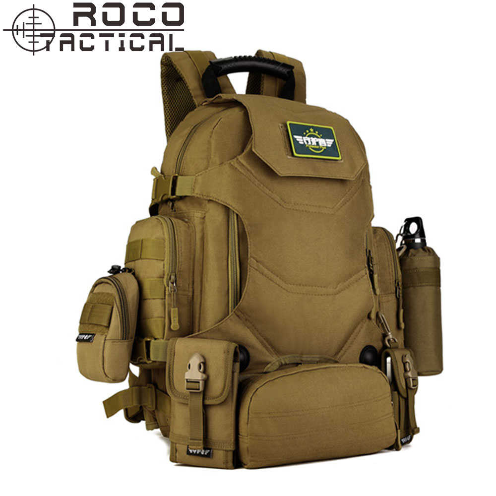 40L Multifunction Nylon Military Backpack Outdoor Waterproof Combined Assault Backpack Quality Mountaineering Tactical Backpacks<br>