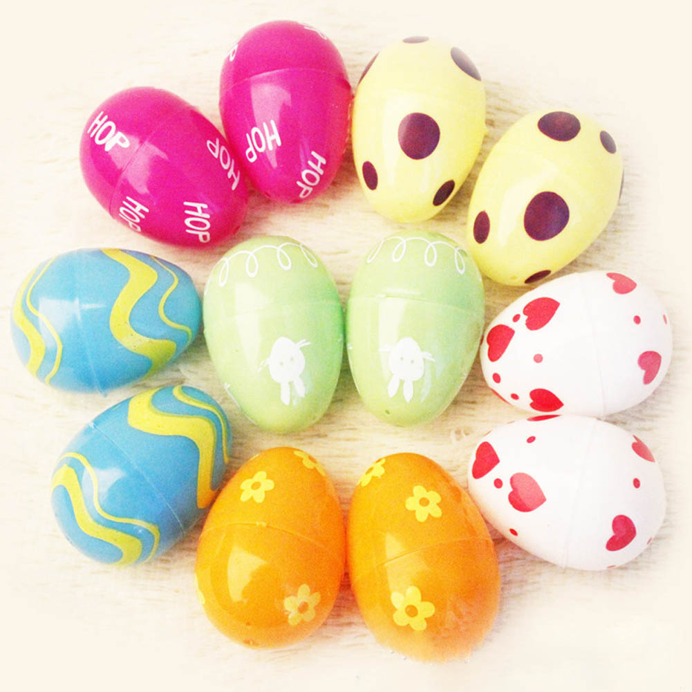 6pcs/pack New Foam Easter Eggs Picks On Sticks Kindergarden Party Decor Child Gift Hand Toy(China (Mainland))