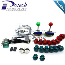 DIY Arcade kit with joystick  push button microswitch and 2 Player USB To Jamma arcade control board(China (Mainland))