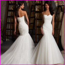 Buy C.V New Custom Made Brief Mermaid Wedding Dress Vestidos De Noiva White Color Lace Fish Tail long wedding dresses 2017 for $75.65 in AliExpress store