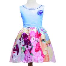 My Littl Poni Dresses Girls Summer 2016 Pony Clothing Flower Kids Dresses for Girl Wedding Party Costume My Pony Cartoon Vestido