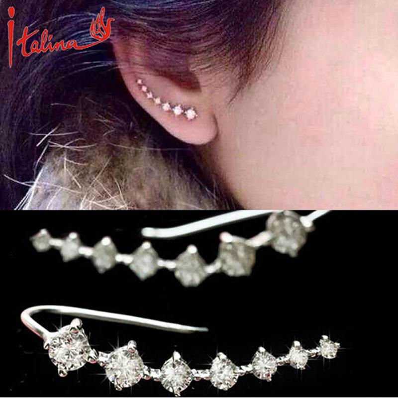 Korean fashion jewelry Big Dipper zircon Earrings Set 7 Rhinestone Beautifully star stud earrings for women Trendy Jewelry(China (Mainland))