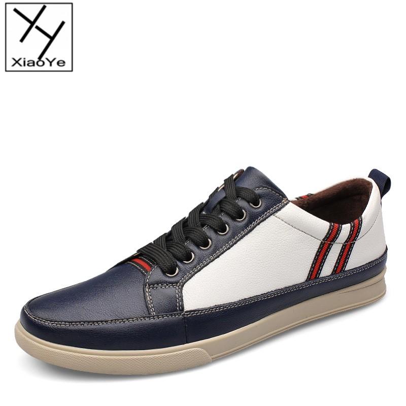 Fashion Mens Leather Shoes High Grade Fresh Color Print Casual Lace Up Shoes EU Size 37-46