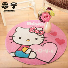 1 PC round Hello Kitty carpet for living room environmentally cartoon Mickey Mouse pattern children baby mat free shipping Y-459(China (Mainland))