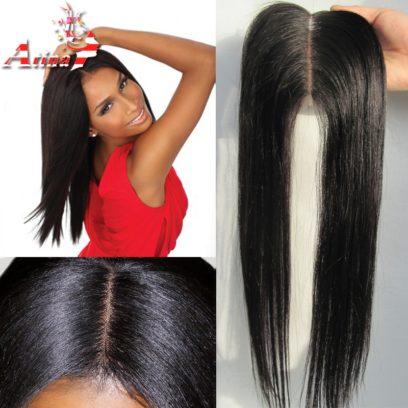 Unprocessed Straight Peruvian Closure Free Middle Three Part Lace Closure with Baby Hair 7A Virgin Remy Human Hair Free Shipping(China (Mainland))