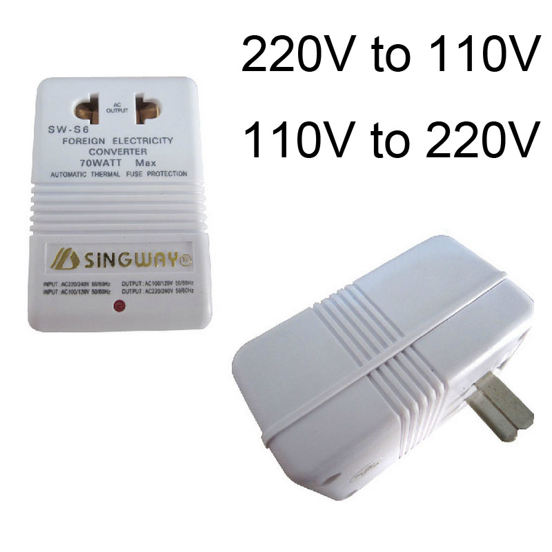 New High Quality White Professional 220V To 110V Step Up/Down Dual Voltage Converter Transformer Travel Adapter Switch(China (Mainland))