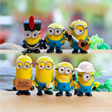 Free Shipping New Minions Toys Minion Figure Toy Ornament Despicable Me Doll Minion Decoration Hand-done Brinquedos