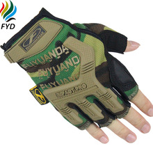 Buy FYD Brand Military Tactical Gloves Outdoor Army Half Finger Gloves Slip Resistant Gloves Climbing Gym Workout Gloves & Mittens for $6.20 in AliExpress store