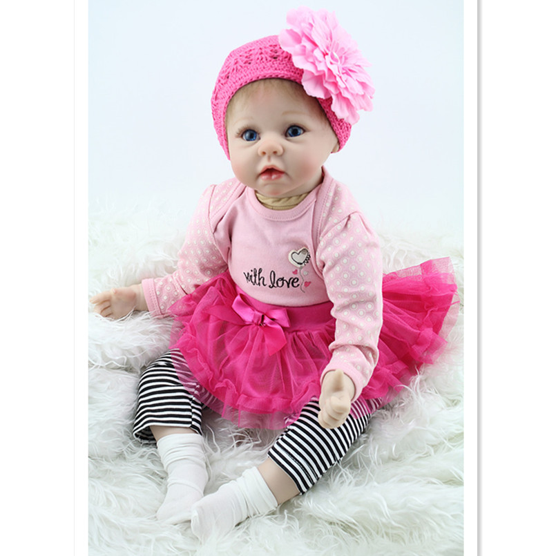 Real Reborn Babies Newborn Doll Toys for Girls Children Gift,20 Inch silicone Reborn Baby Doll with Clothes and Hat(China (Mainland))