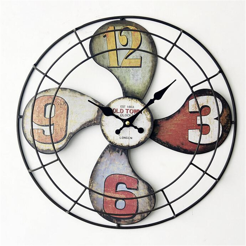 FuLe Home Decor Wall Clocks Decorative wall hanging Environmental beauty Eurppe quiet Fan shape SC661(China (Mainland))