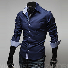 Buy 2017 New Designer Slim Fit Mens Casual Shirt Fashion Long Sleeve Classic Social Shirt Male Shirts Chemise Homme for $8.61 in AliExpress store