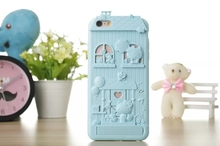 New cute cartoon log cabin house style mobile phone case soft silicon kickstand cover for iphone 6 6s 6 plus 6s plus cases coque(China (Mainland))