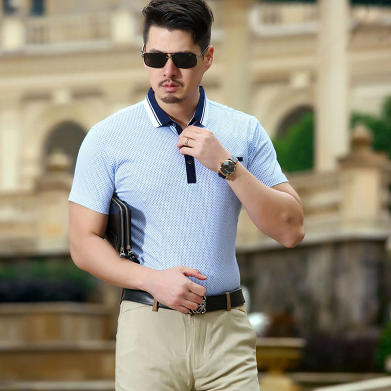 2016 summer men Polo shirt Slim lapel popular men's short-sleeved cotton Men's Polo Shirts(China (Mainland))