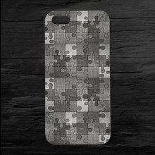 Hot Selling Metal Gray Jigsaw Puzzle Printed Hard Plastic Mobile Phone Case for Apple iPhone 5 5s 4 4s 5c 6 6s plus(China (Mainland))
