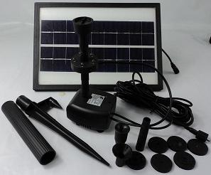 5W Solar Powered Pond Pool Water Pump Battery Control + LED Solar Submersible Fountain Pump(China (Mainland))