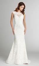 Elegant Boat Neckline Vestido de novia Mermaid Wedding Dress Illusion Back Applique Lace Bodice Court Train Wedding Gown YX165