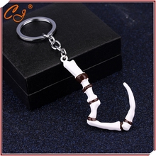 Buy Fashion Hot Game Dota 2 Keychain Pudge's Meat Hook Weapon Model Key chain ring Pendant jewelry Collection Gift Men for $1.60 in AliExpress store